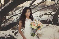 Snowy Bridal Styled Shoot #Wedding #Styled Shoot #Winter #Snowy #Blissfullywed