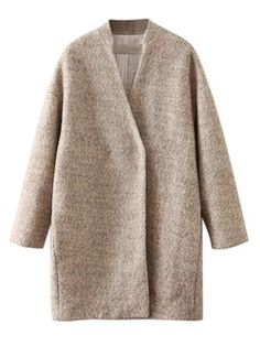 Shop Camel Woolen Longline Coat from choies.com .Free shipping Worldwide.