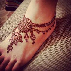 Anklet henna design   $20