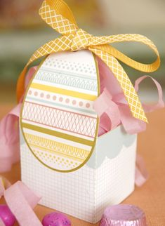 Easter gift box template
