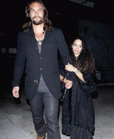 (Ok, im jealous of her...The height difference is so cute.)  Lisa Bonnet & Jason Momoa during date night in West Hollywood.