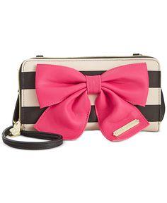Betsey Johnson Bow Zip Wallet Crossbody - Wallets & Wristlets - Handbags & Accessories - Macy's