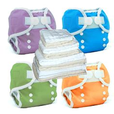 Essential Cloth Diaper Starter Kit Thirsties Duo Wrap Covers & Prefolds-prefolds, covers, wraps, cloth diapers, starter kit, getting started, diapering, cotton, cloth, reusable, new to cloth, package deal, baby shower gift, new baby, infant cloth diapers, newborn, thirsties, aplix