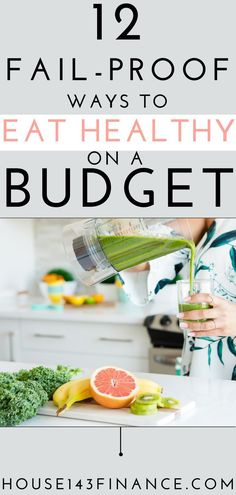 Find out how to eat healthy on a budget with this ultimate guide! Learn tips like meal planning and how to eat well on a budget! PIN ME for tips about saving money on groceries and other ideas for eating healthy on a budget! Budget Meal Planning, Cooking On A Budget, Budget Meals, Budget Recipes, Frugal Meals, Freezer Meals, Food Budget, Easy Budget, Cheap Recipes