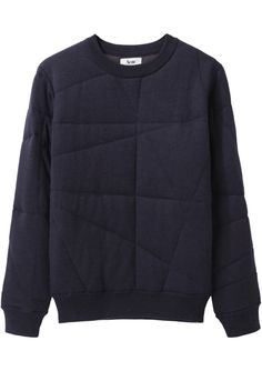 Acne Jumper - Stitch over a sweatshirt for a subtle pattern. Looks Style, Style Me, Style Minimaliste, Fashion Details, Fashion Design, Style Fashion, Mode Style, Mens Sweatshirts, Sweater Weather