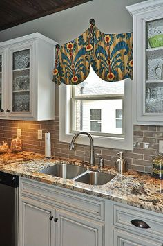 Traditional Kitchen - Found on Zillow Digs Cute curtain!