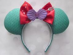 Ariel Inspired Mouse Ears Headband Custom Ears by EarsComeTrue