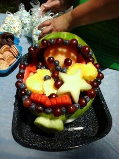 Fruit salad baby carriage