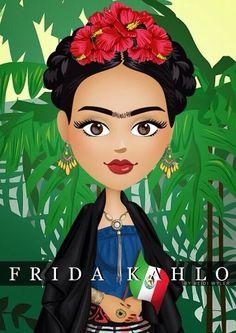 frida kahlo cartoon - Buscar con Google