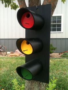 Stoplight birdhouse. $35.00, via Etsy.
