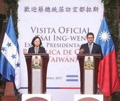 La presidenta Tsai Ing-wen y su comitiva arribaron el 8 de enero a la Base Aérea Enrique Soto Cano, en Palmerola, Comayagua, Honduras, siendo recibidos por el designado presidencial Ricardo Ant...