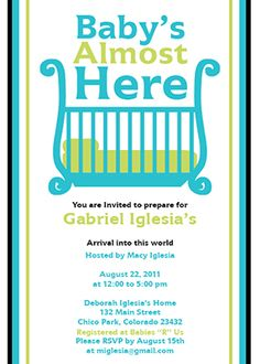 Customizable Baby Shower Invitation Template  Two Strollers Baby