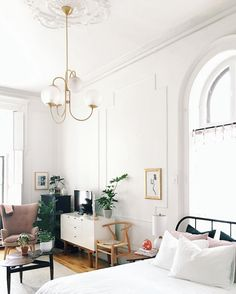 my scandinavian home: the mid-century inspired sitting room and bedroom in the studio apartment of Lauren Maclean.
