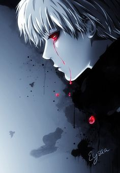 Natsuki Hanae was the perfect voice actor for Kaneki. His natural voice is so smooth and airy, revealing an innocence to Kaneki, and he can change that pleasant-sounding voice to one shrouded in pain and trauma. Manga Anime, Fanarts Anime, Manga Art, Anime Characters, Anime Art, Anime Boys, Tokyo Ghoul Fan Art, Ken Kaneki Tokyo Ghoul, Tokyo Ghoul Manga