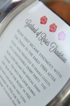 The decor for the party included signs about Derby traditions, all placed in silver horseshoe frames. Kentuky Derby, Run For The Roses, Rose Garland, Race Day, Family Traditions, Kentucky, Traditional, Parties, Garlands