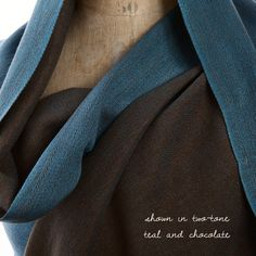 Why settle for one color when you can have two? Create your own bespoke Himalayan real Pashmina wrap in your favorite colors at https://pashm.com/shop/himalayan-cashmere-wrap/ Shown here in Two-Tone Herringbone weave in Teal and Chocolate.