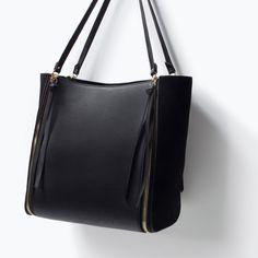 Image 4 of ZIPPED SHOPPER BAG from Zara