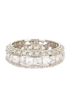 Pave CZ Assorted Stone Eternity Ring <3
