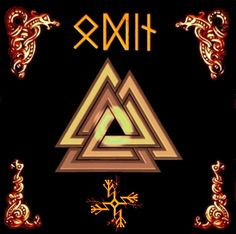 Odin's triple triangle, known as the VALKNUT, symbolises the forces of creation-preservation-and destruction.Pagan people understand the world as an ever repeating process of cycles.