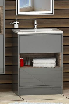 The bathroom basin category of today has developed into a masterpiece. So add up style to your bathroom while cleaning up the mess in disciplined way. Find more! ............................................................................................................................................#VanityUnit #BathroomDesign #FloorStandingVanityUnit