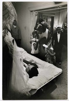 Medgar Evers's family at the funeral home, Jackson, Mississippi, June 13, 1963. Photographer: Flip Schulke/(Credit line: Anonymous Gift, 2006.)