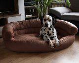 Auch große Hunde wollen schön träumen ! XXL Hundebett für große Hunde in braun - mehr dazu in unserem Blog unter http://www.diehundewiese.de/zubehor-fur-hunde/5-kuschelige-xxl-hundebetten-fur-grose-hunde/