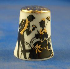 GOLD TOP THIMBLE - BLACK AND GOLD SILHOUETTE
