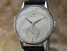 Vintage Watches Collection : Omega Rare Mens Stainless Steel Manual Vintage Swiss Dress Watch - Watches Topia - Watches: Best Lists, Trends & the Latest Styles All Black Watches, Army Watches, Dream Watches, Luxury Watches For Men, Cool Watches, Lux Watches, Fashion Watches, Vintage Omega, Beautiful Watches