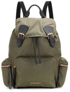 Burberry The Large Leather-trimmed Backpack