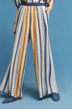 Vertical Stripe Wide-Legs