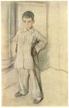 Portrait of L.K. Naryshkin, 1910, Valentin Serov Size: 70x90 cm Medium: charcoal, pastel, sanguine, paper