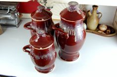 Red #Canister for #Kitchen:Glossy Red Ceramic Kitchen Canisters–images Of Red Kitchen Canisters
