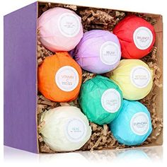 8 USA Made Vegan Bath Bombs Kit Gift Set Ideas Gifts For Women Mom Girls Teens Her Ultra Lush Spa Fizzies Best Gift Ideas Add to Bath Bubbles Basket Bath Beads Bath Pearls *** Learn more by visiting the image link.