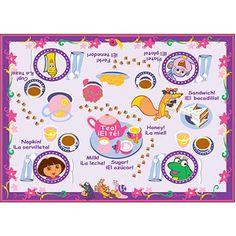 Dora the Explorer Tea Time Game Nylon Rug, Pink