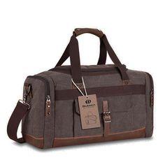 Canvas Reisetasche Handgepäck Weekender Tasche Vintage Segeltuch Sporttasche für Reise (Kaffee): Amazon.de: Koffer, Rucksäcke & Taschen