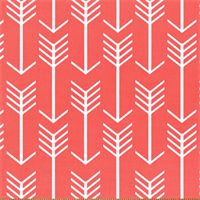 Arrow Coral Printed Drapery Fabric by Premier Prints