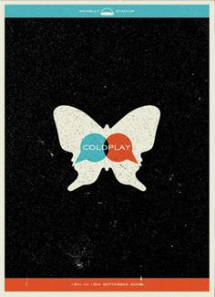 Coldplay poster - M. Brady Clark   want.
