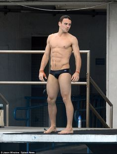 Shirtless Tom Daley sports a spring in his step as he returns to the diving board for the first time since announcing engagement   Daily Mail Online