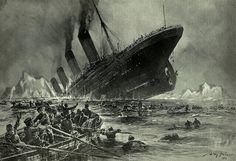 Untergang der Titanic (El hundimiento del Titanic), grabado de Willy Stöwer.