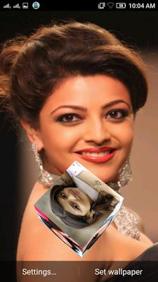Kajal Aggarwal 3D live Wallpaper For Android Mobile Phone