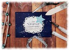 Twinkle Twinkle Stitched Labels Gate Fold Stampin' Up!