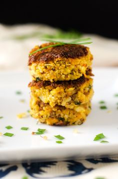 Pumpkin Quinoa Patties, serve with curried coconut cream
