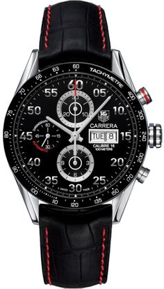 CV2A10.FC6237   NEW TAG HEUER CARRERA DAY DATE MENS WATCH  IN STOCK   - FREE Overnight Shipping | Lowest Price Guaranteed    - NO SALES TAX (Outside California)- WITH MANUFACTURER SERIAL NUMBERS- Black Dial- Chronograph Feature - Day