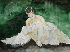 Unsere verkauften Bilder 2012 | Ballett – Live (c) Aquarell von Frank Koebsch #Aquarell #watercolor #Ballet #Ballerina
