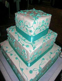 Teal cake i wanted a few years back
