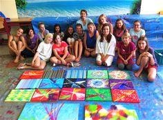 Action Painting Ideen für Kinder E>