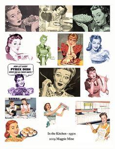 In der Küche Mitte Jahrhundert 1950er Jahre Retro von MagpieMine                                                                                                                                                                                 Mehr