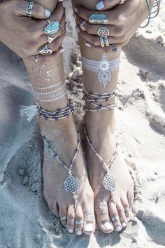 Lilac crystal barefoot sandals tie up barefoot by ForeverSoles Yoga Sandals, Bare Foot Sandals, Flower Of Life Symbol, Ankle Jewelry, Jewlery, Foot Henna, Crochet Barefoot Sandals, Bridal Shoes, Anklet