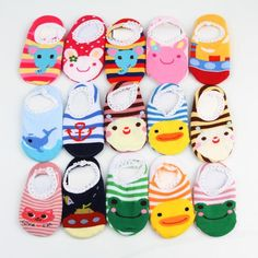 Trendy Lovely Baby Infant Kids Lace Anti-slipping Cartoon Animal Style Socks Color Randomly Delivered BB-140