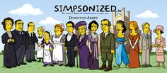 """""""Downton Abbey"""" - Simpsonized ... by Belgian illustrator Adrien Noterdaem, creator & operator of the """"Simpsonized"""" ( http://drawthesimpsons.tumblr.com/ ) 